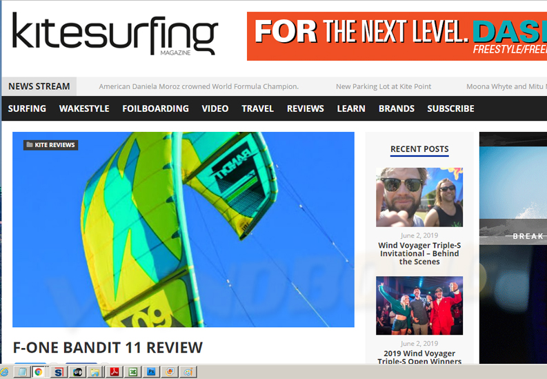 2019 F-One Bandit 11M Kite Review Kitesurfing Magazine Review