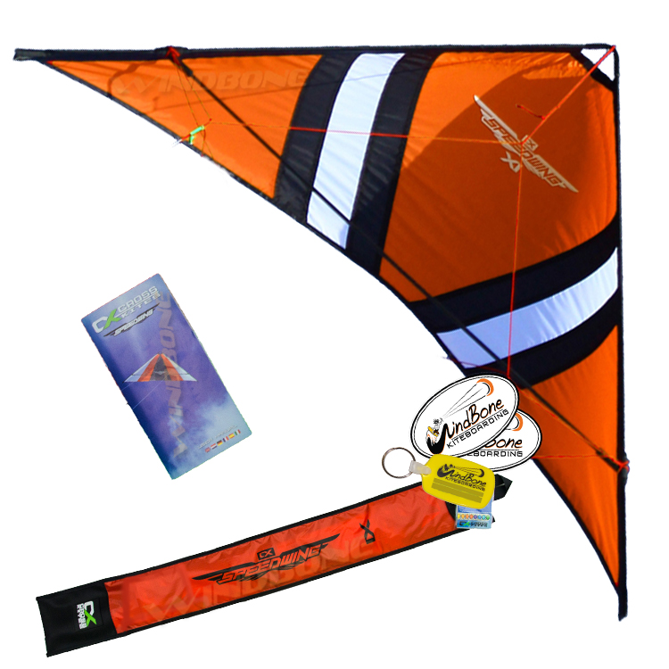 Cross Kites SpeedWing X1 Stunt Kite Package Orange