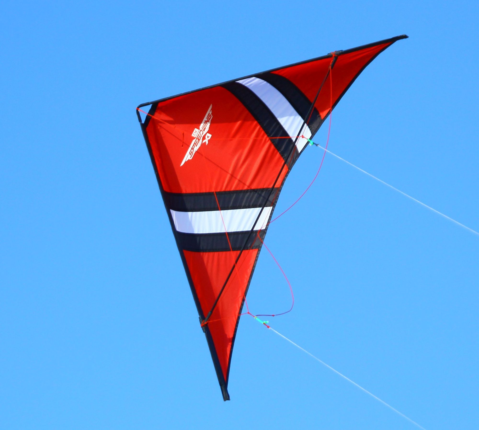 Cross Kites SpeedWing X1 Stunt Kite Red In Flight