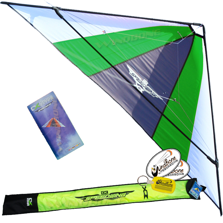 Cross Kites SpeedWing X3 Stunt Kite Package Green