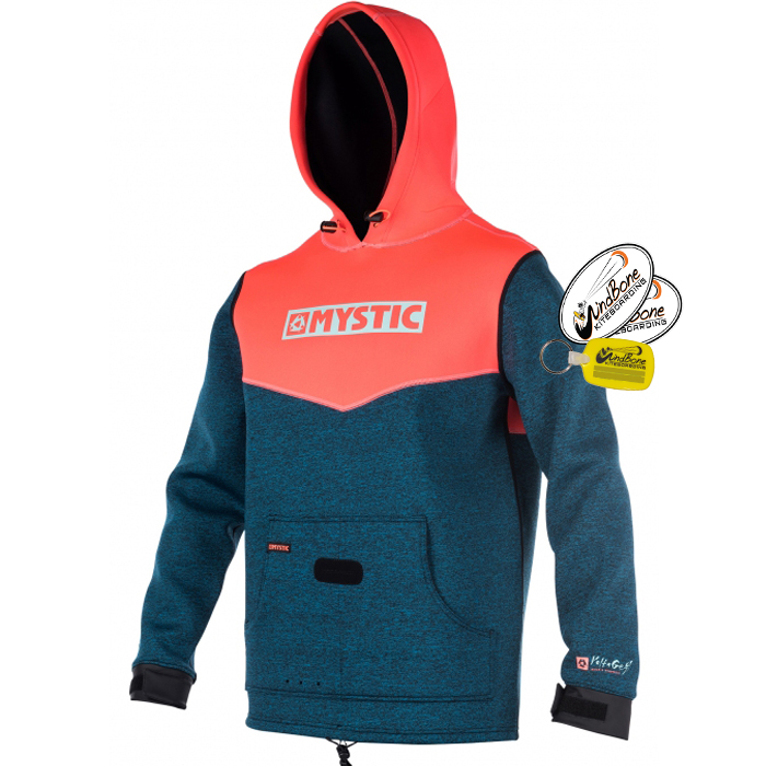 Mystic_Voltage_Sweat_Coral_Kite_Jacket_Front