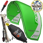 Ocean Rodeo React 2.5M Inflatable Depower Trainer Kite With Harness Gen 3
