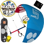 HQ HQ4 Rush Pro School 300 Depower Control Bar Trainer Kite Power Foil + Bonus