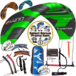 Peter Lynn Twister Foil 4-Line Power Kite Jumping Intermediate + Bonus