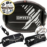 2018 Mystic Majestic X Harness Carbon Hard Shell Kitesurfing Kite Harness + Bonus