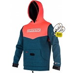 Mystic Voltage Sweat Kite Hoodie Wind Jacket Wetsuit Pullover Coral