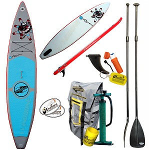 "2016-2017 Boardworks SHUBU Raven 12'-6"" Inflatable Racing SUP + Free Paddle (Closeout Sale)"