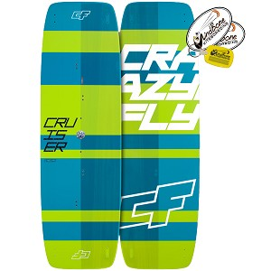 2017 Crazyfly Cruiser Carbon Light Wind Kiteboad Twintip (Closeout)