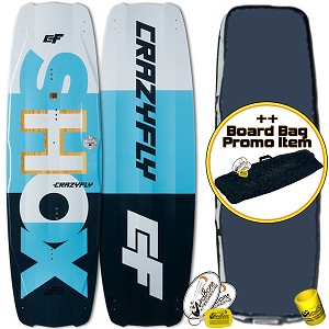 2018 Crazyfly Shox Kiteboard Twintip Eco Friendly (Closeout)