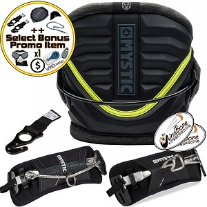 2018 Mystic Warrior V Harness Kitesurfing Kite Harness + Bonus