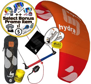 HQ HQ4 Hydra 300 3M 3-Line Water Relaunchable Trainer Kite + Bonus