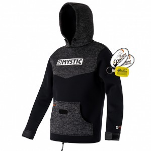 Mystic Voltage Sweat Kite Hoodie Wind Jacket Wetsuit Pullover Black