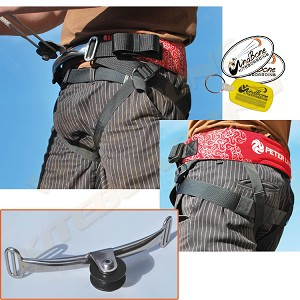 Peter Lynn Base Harness w Challenger Wheel - Adjustable Quad Handle Kite Seat Harness