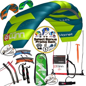 Peter Lynn Hornet Foil 4-Line All Around Power Kite + Bonus
